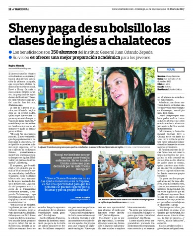 Give a Chance Foundation makes headlines in El Salvador