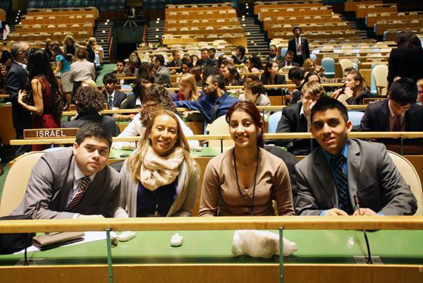 Brian Flores, Jennifer Munoz, Uzma Rashidi and Edwin Quito at 2011 NY national Model UN conference.