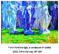 Front Yard Storage; a Landscape of Ladies,  2011, oil on canvas, by Mollie Thonneson. Courtesy of Mollie Thonneson