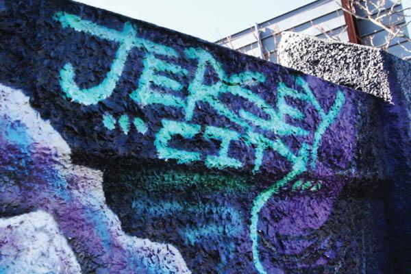Jersey City graffiti. Movie still courtesy of Jane Steuerwald