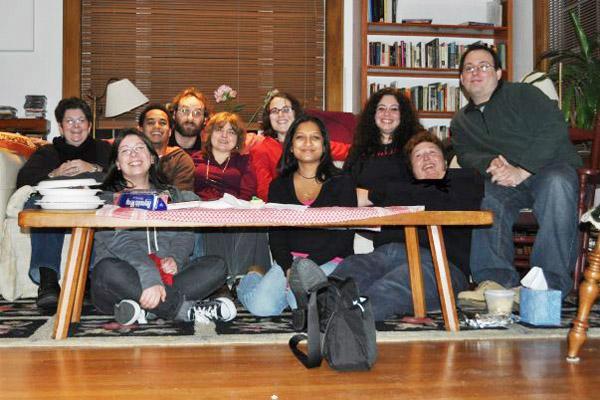 Kathy Potter, far left, at Memoir Fest 2009. Courtesy of Professor Edvige Giunta