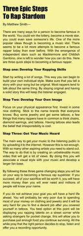 Rap Music: Not Just For The Mainstream Artist