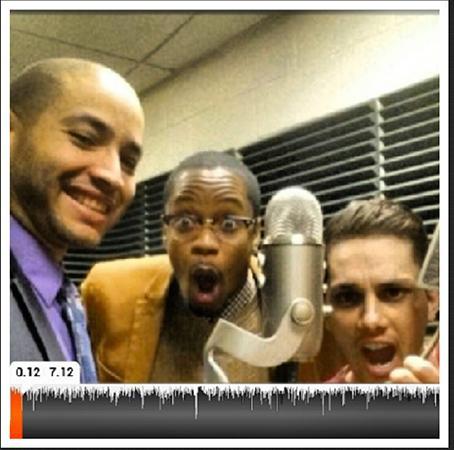 Rob Quinones, Mr. Jeff Dess and Antonio Talemo (l to r), the trio who run the NJCU's Campus Life podcast. Photo courtesy of Rob Quinones