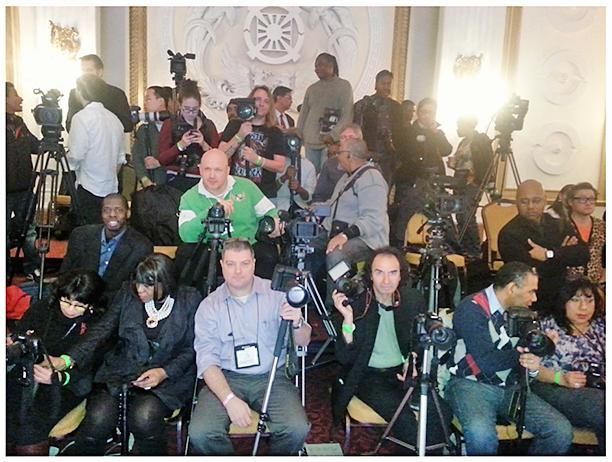 The Press, seated at 2014 Couture Fashion Week at New Yorker Hotel. Photo by Ladiyah Beachum.
