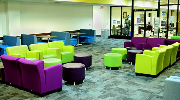 New student lounge in GSUB. Photo by Dakota Santiago