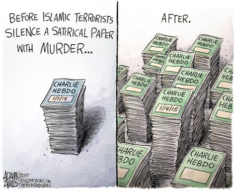 Charlie Hebdo: Before and after.