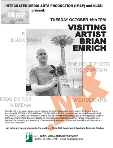 Oct. 16: Visiting Artist Brian Emrich