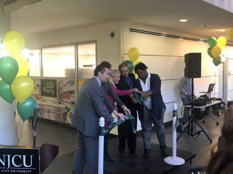 NJCU cuts ribbon on Gothic Knights Food Pantry