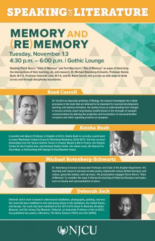 Nov. 13: Speaking of Literature: Memory and (Re)memory