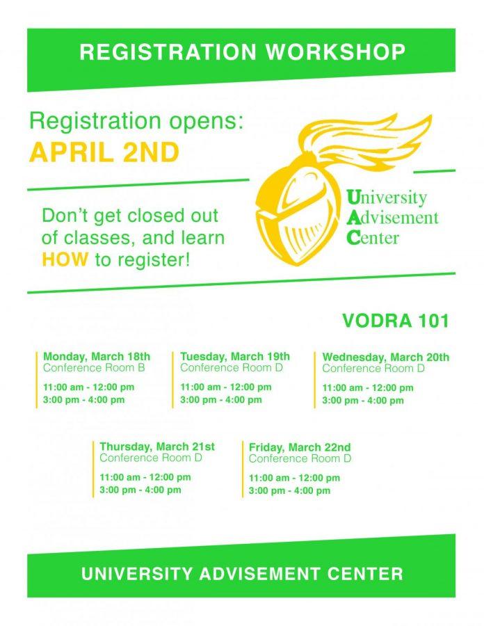 Registration Workshops: Mar. 18-22