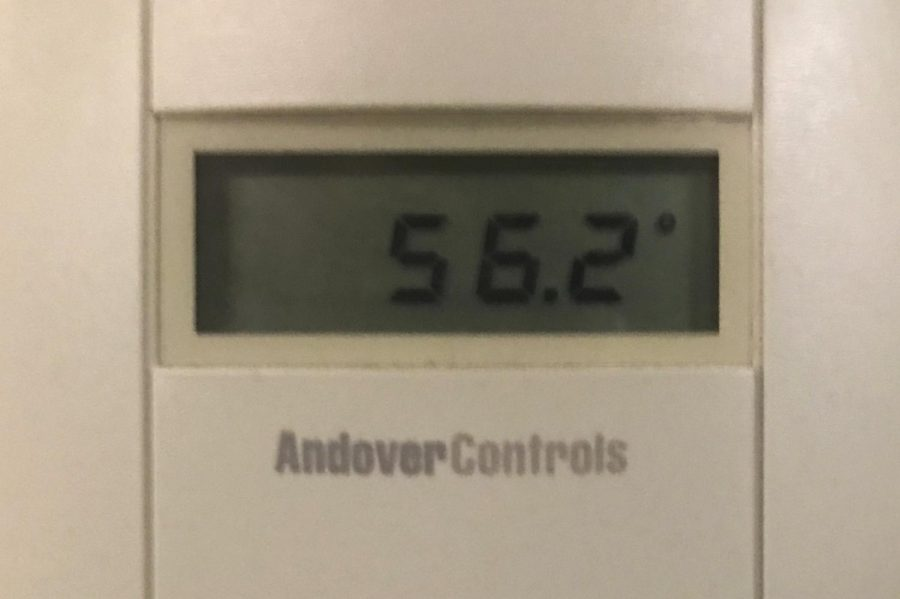 Temperature in Fries Hall, November 19, 2019.