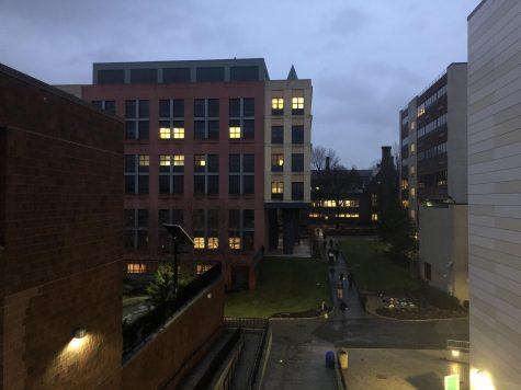 Lights slowly come back on across campus as the lockdown was lifted.