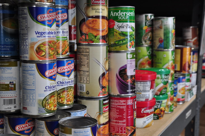 Canned goods that can be found inside the food pantry. Photo courtesy of Salvation Army US West/Flickr