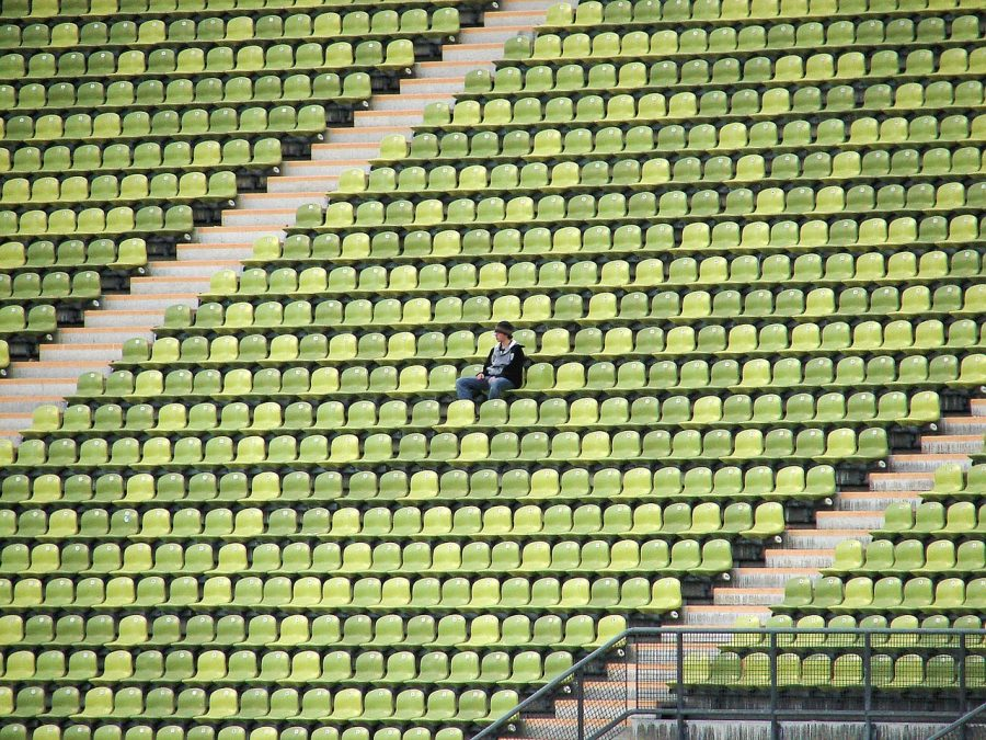 Photo displays stadiums going empty due to virus. Photo courtesy of Wgbieber/Pixabay