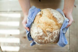 Baking bread during quarantine; seeking new hobbies during the worldwide COVID-19 pandemic.
