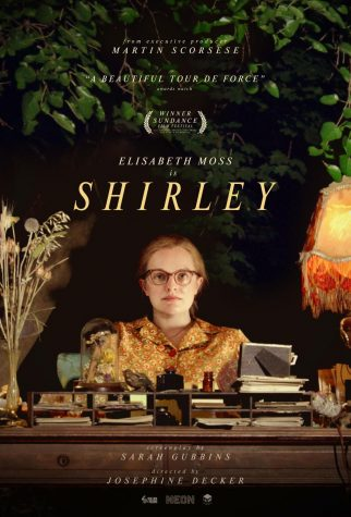 A poster for Shirley, winner of the U.S. Dramatic Special Jury Award for Auteur Filmmaking at the 2020 Sundance Film Festival.