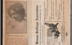 Alice Dunbar-Nelson saved this classic suffrage swag, a map showing the growth of women's right to vote. Like many scrapbook makers, Dunbar-Nelson reused an old book or ledger. Hers was a household accounts book, probably never used. When scrapbook makers pasted over other books, they demonstrated that they valued one text over the other: in this case, suffrage work over close attention to individual housekeeping.