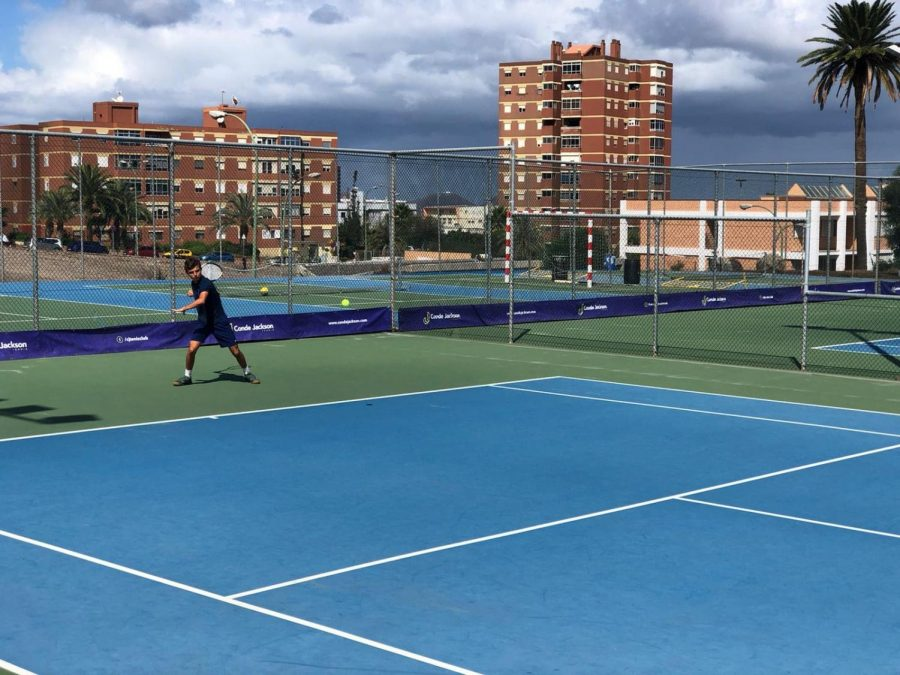 Ley+during+his+training+with+the+NJCU+Men%27s+Tennis+team.+