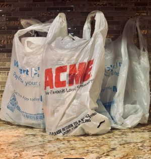 Walmart and ACME are among stores that gives away plastic bags due to states like New Jersey implementing a ban to have an environmental country.