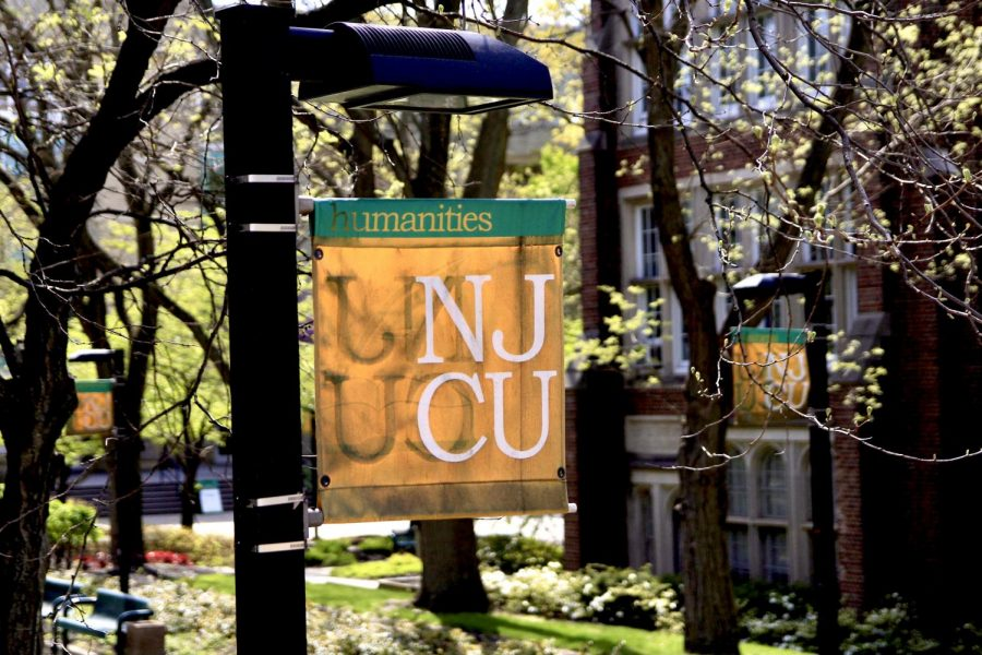 NJCU flag on campus.