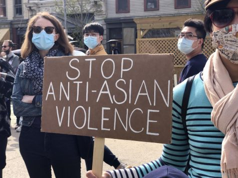 Jersey City Protest Against Asian Violence. Photo by Felix.