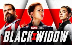 Black Widow character posters with stars David Harbour, Scarlett Johansson, and Florence Pugh. Photo Courtesy of The Direct/Marvel Studios [Fair Use].